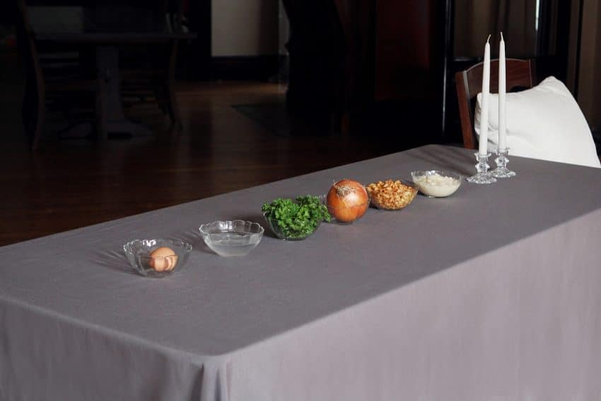 Christ in the Passover setup