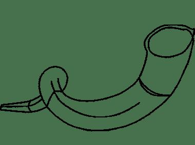 Shofar drawing