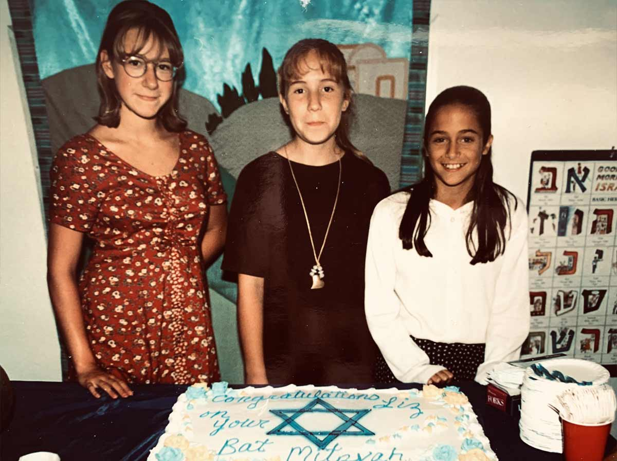 Liz at her bat mitzvah