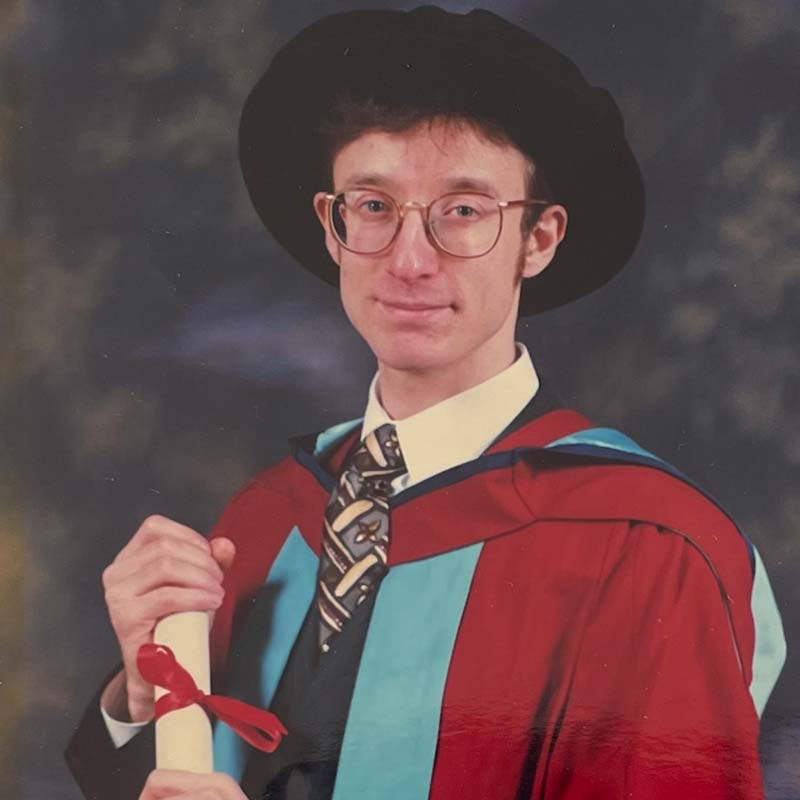 Ziggy when he received his PhD