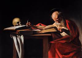 Painting of Saint Jerome by Caravaggio